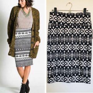 Lularoe Cassie Aztec Tribal Pencil Skirt